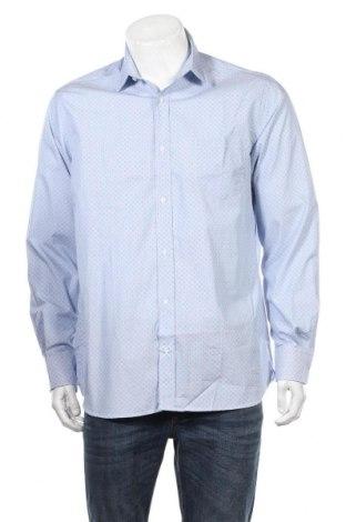 Мъжка риза Cyrillus, Размер L, Цвят Син, Памук, Цена 22,12лв.