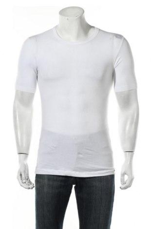 Мъжка тениска Schiesser, Размер M, Цвят Бял, 95% памук, 5% еластан, Цена 13,50лв.