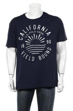 Мъжка тениска U.S. Polo Assn., Размер XL, Цвят Син, Памук, Цена 35,55лв.