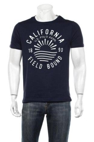Мъжка тениска U.S. Polo Assn., Размер S, Цвят Син, Памук, Цена 35,55лв.