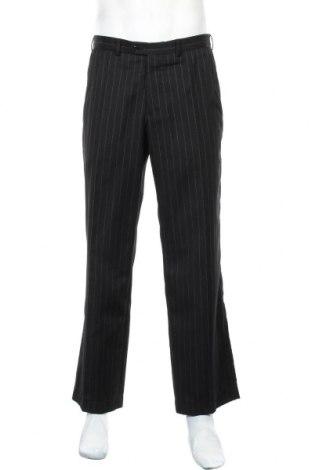 Ανδρικό παντελόνι Bertoni, Μέγεθος M, Χρώμα Μαύρο, 55% πολυεστέρας, 45% μαλλί, Τιμή 7,40€