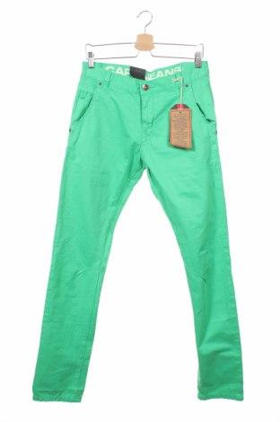 Мъжки панталон Cars Jeans, Размер S, Цвят Зелен, Памук, Цена 8,85лв.