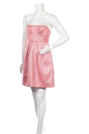 Рокля BCBG Max Azria, Размер S, Цвят Розов, 52% полиамид, 34% полиестер, 14% метални нишки, Цена 23,00лв.