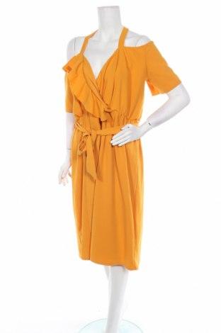 Рокля Boohoo, Размер XXL, Цвят Жълт, 95% полиестер, 5% еластан, Цена 27,72лв.