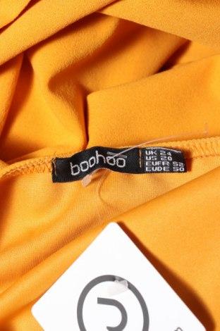 Рокля Boohoo, Размер XXL, Цвят Жълт, 95% полиестер, 5% еластан, Цена 44,00лв.