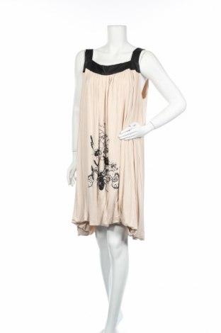 Φόρεμα, Μέγεθος XXL, Χρώμα  Μπέζ, 95% βισκόζη, 5% ελαστάνη, Τιμή 7,80€
