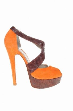 Сандали Ovye, Размер 38, Цвят Оранжев, Естествен велур, Цена 16,00лв.