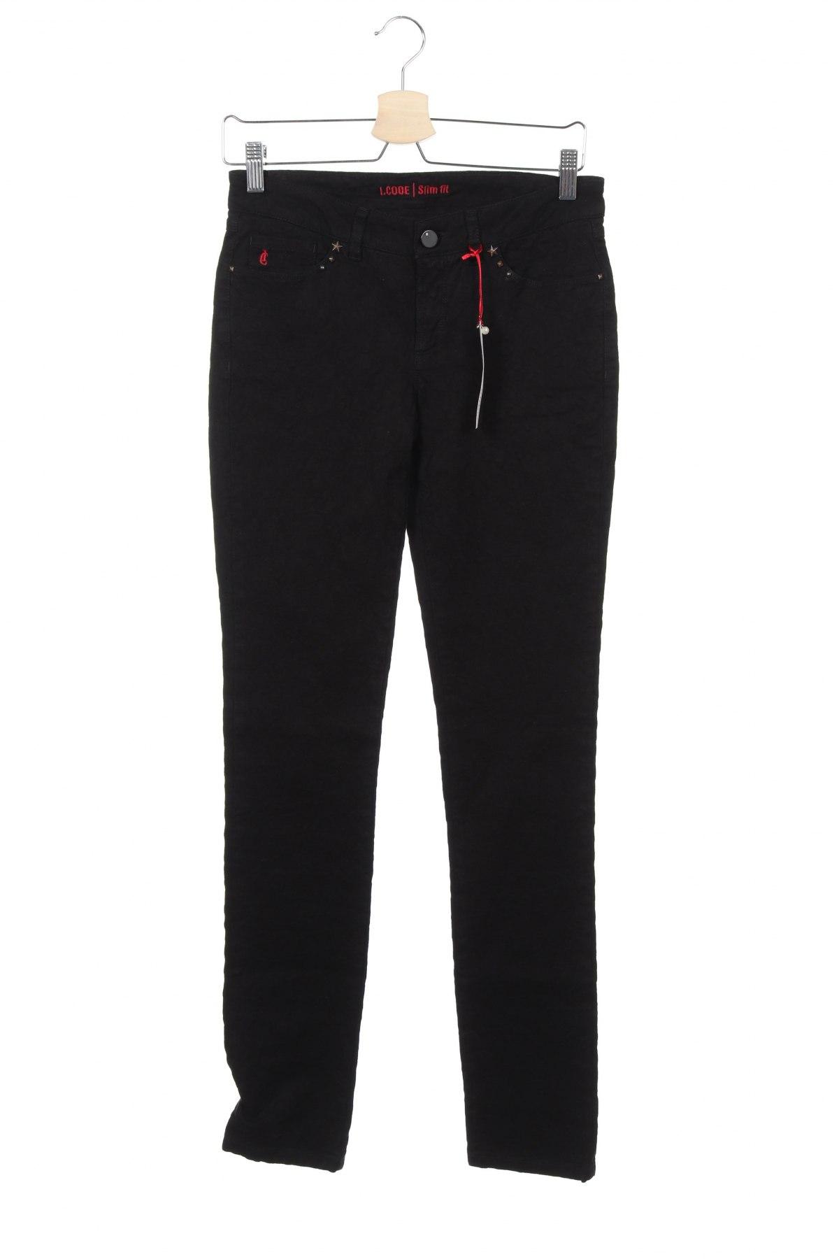 Дамски дънки I Code, Размер XS, Цвят Черен, 98% памук, 2% еластан, Цена 46,50лв.