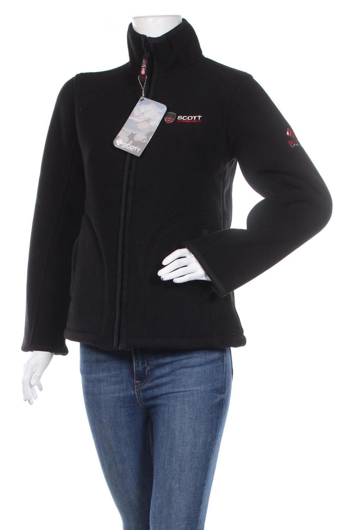 Дамско поларено яке Scott, Размер S, Цвят Черен, Полиестер, Цена 52,80лв.