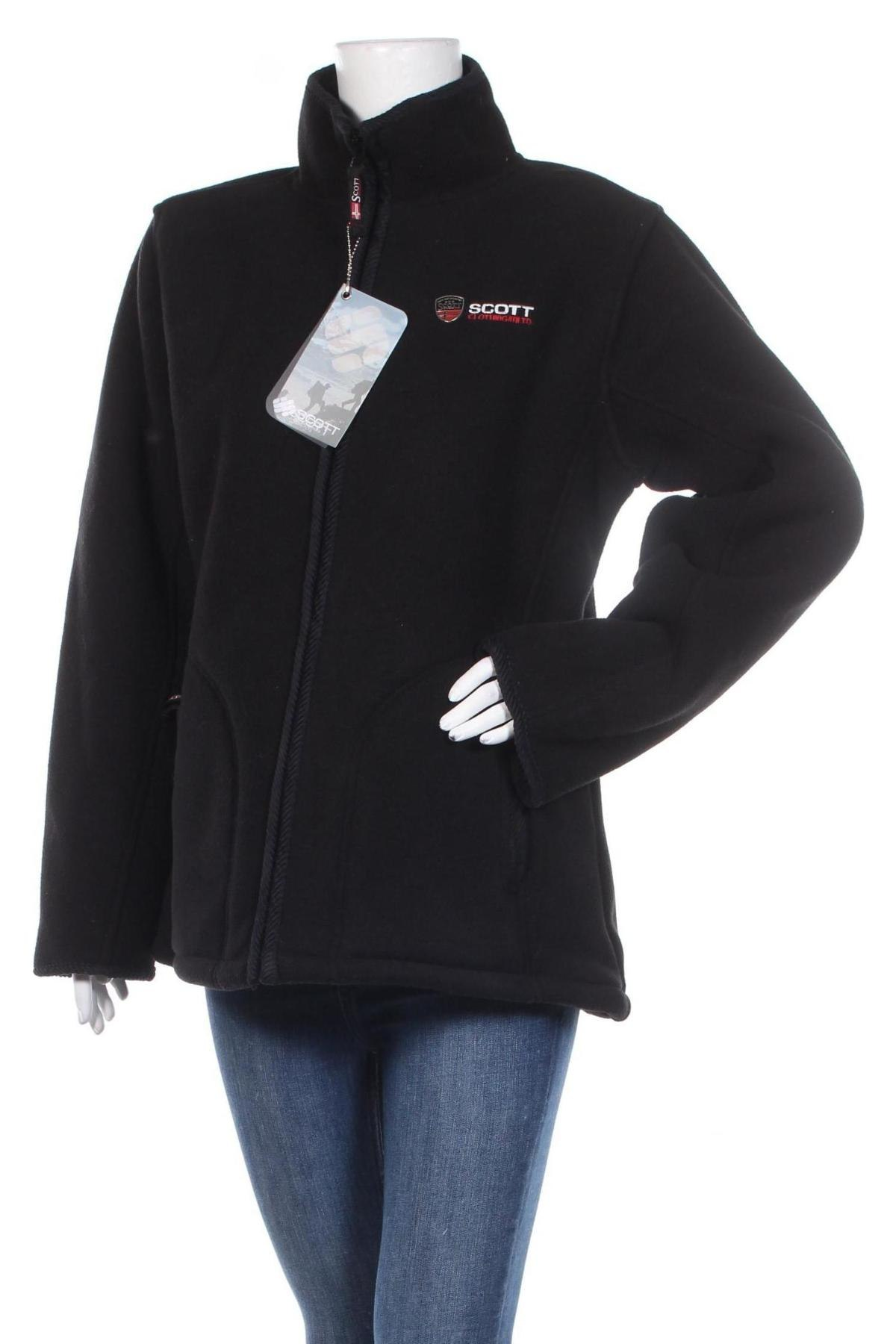 Дамско поларено яке Scott, Размер XXL, Цвят Черен, Полиестер, Цена 52,80лв.