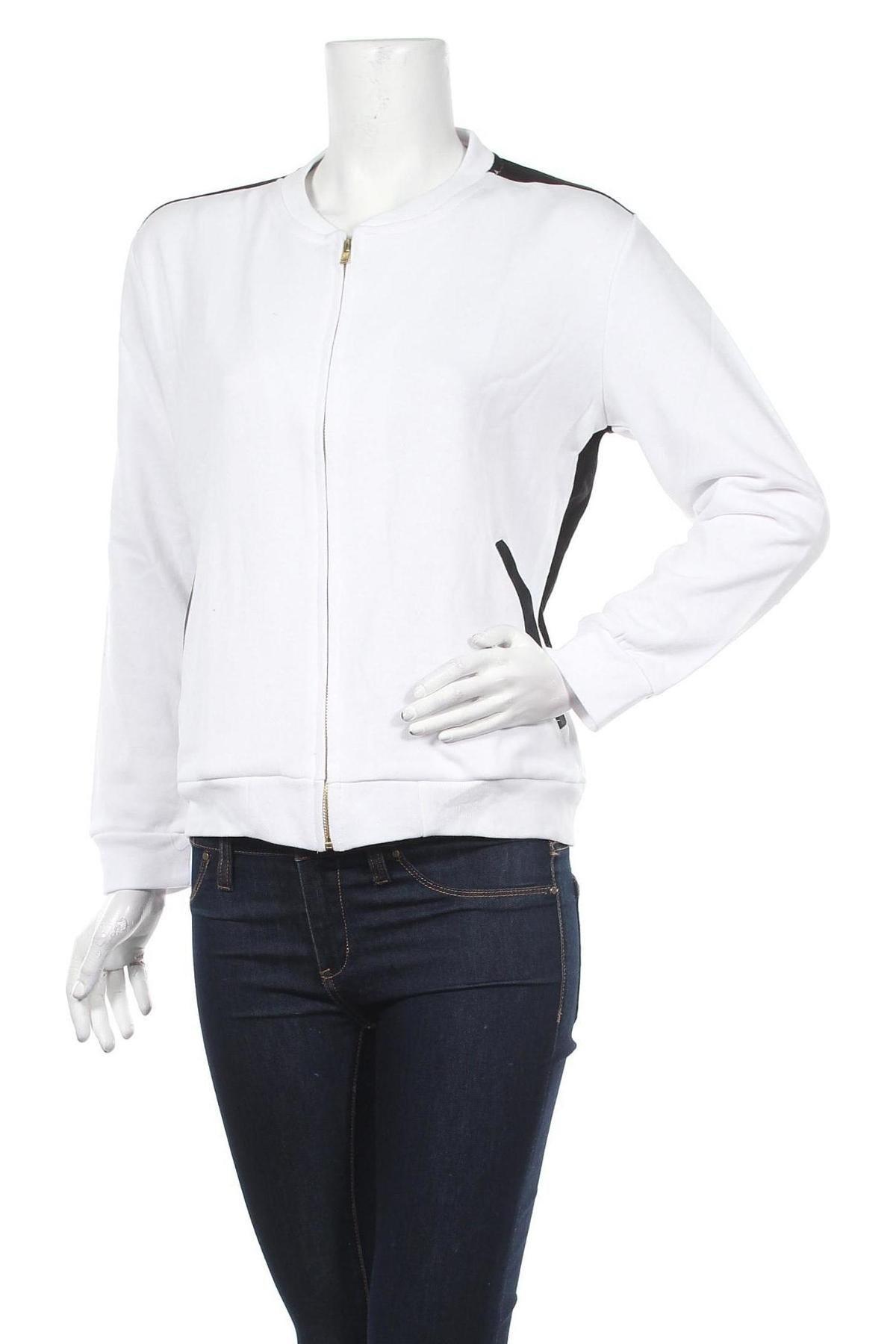 Дамско спортно горнище Alcott, Размер L, Цвят Бял, 65% полиестер, 35% памук, Цена 14,08лв.