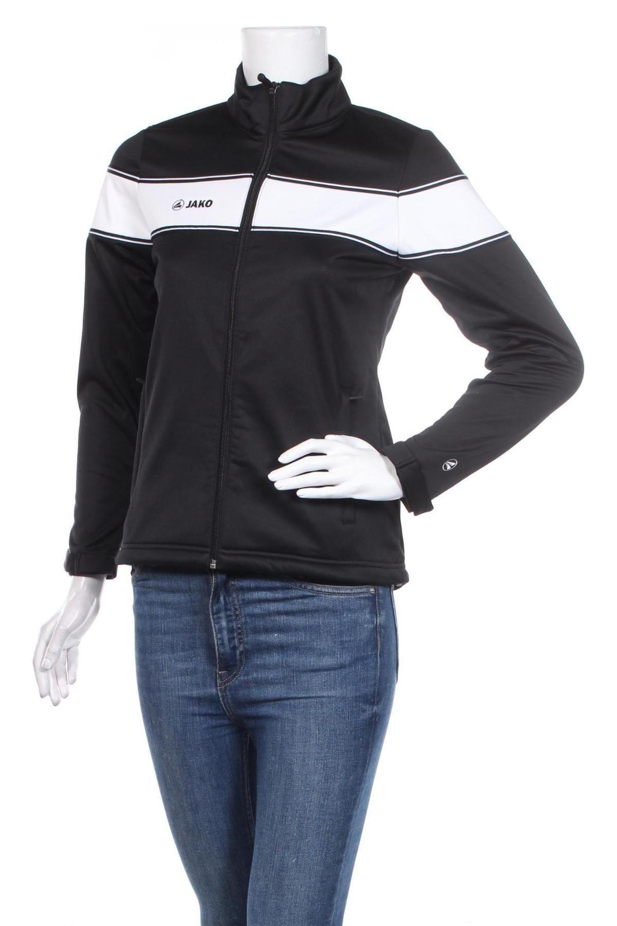 Дамско спортно яке Jako, Размер XS, Цвят Черен, Полиестер, Цена 16,02лв.