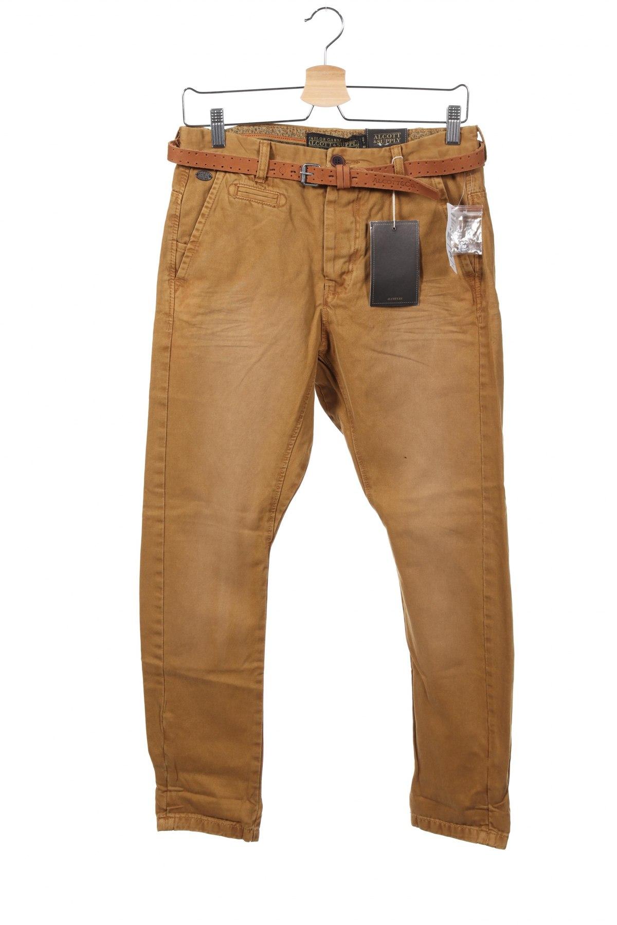 Ανδρικό παντελόνι Alcott, Μέγεθος S, Χρώμα  Μπέζ, Βαμβάκι, Τιμή 20,88€