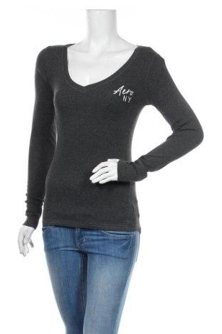 Дамска блуза Aeropostale, Размер M, Цвят Сив, 96% памук, 4% еластан, Цена 18,90лв.