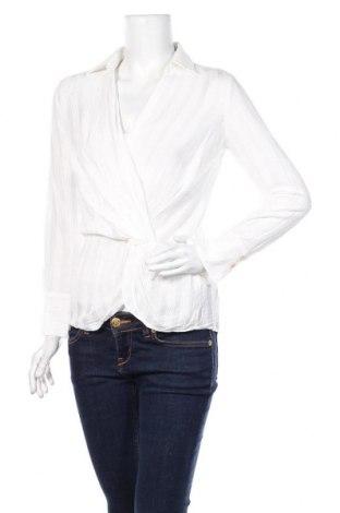 Дамска блуза Massimo Dutti, Размер S, Цвят Бял, 62% памук, 29% вискоза, 9% модал, Цена 28,50лв.