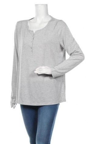 Дамска блуза S.Oliver, Размер XL, Цвят Сив, 54% вискоза, 45% полиестер, 1% метални нишки, Цена 35,10лв.