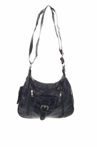 Γυναικεία τσάντα, Χρώμα Μπλέ, Γνήσιο δέρμα, δερματίνη, Τιμή 22,08€