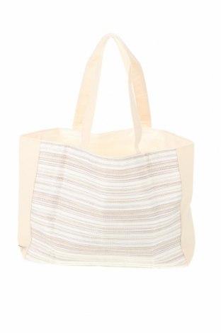 Дамска чанта, Цвят Екрю, Текстил, Цена 26,93лв.