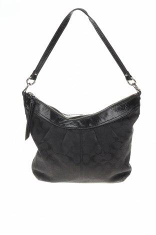 Дамска чанта Coach, Цвят Черен, Текстил, естествена кожа, Цена 132,00лв.