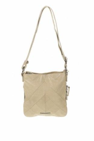 Дамска чанта FREDsBRUDER, Цвят Бежов, Естествена кожа, Цена 59,25лв.