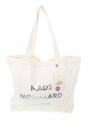Geantă de femei Mads Norgaard, Culoare Alb, Textil, Preț 120,29 Lei