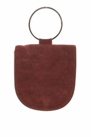 Geantă de femei Reserved, Culoare Roșu, Velur natural, Preț 96,71 Lei