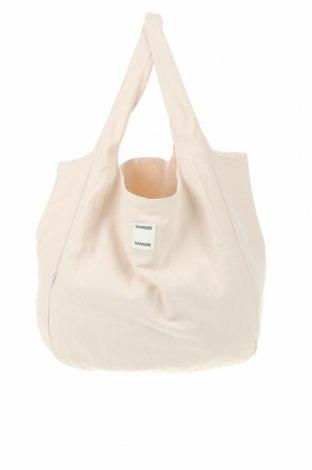 Дамска чанта Samsoe & Samsoe, Цвят Бежов, Текстил, Цена 66,75лв.