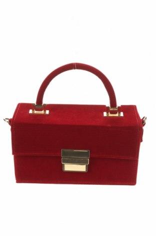 Geantă de femei Zara, Culoare Roșu, Textil, Preț 133,55 Lei