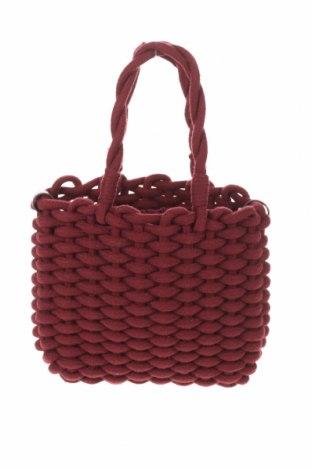 Geantă de femei Zara, Culoare Roșu, Textil, piele ecologică, Preț 119,74 Lei