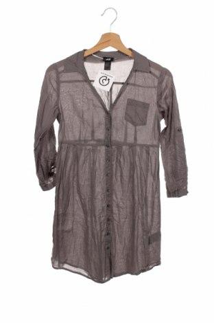 Дамска риза H&M, Размер XS, Цвят Сив, Памук, Цена 21,75лв.