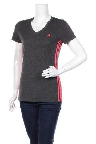 Дамска тениска Adidas, Размер M, Цвят Сив, 70% памук, 30% полиестер, Цена 18,00лв.