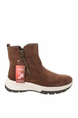 Dámské boty  Gabor, Velikost 39, Barva Hnědá, Přírodní velur , Cena  1714,00Kč