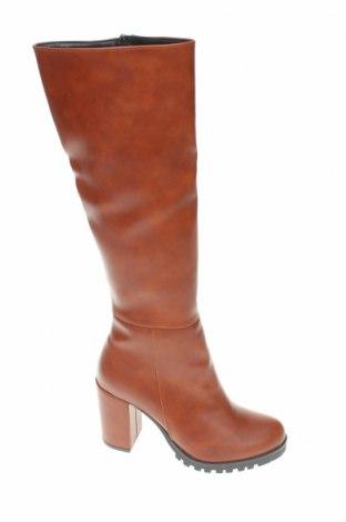 Γυναικείες μπότες Jilberto, Μέγεθος 39, Χρώμα Καφέ, Δερματίνη, Τιμή 25,76€