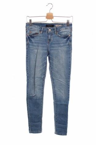 Дамски дънки Aeropostale, Размер XS, Цвят Син, 98% памук, 2% еластан, Цена 18,20лв.