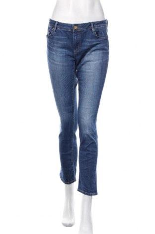Дамски дънки Massimo Dutti, Размер L, Цвят Син, 92% памук, 8% еластан, Цена 27,00лв.