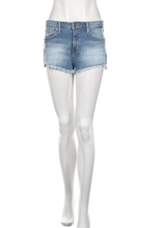 Дамски къс панталон H&M, Размер S, Цвят Син, 98% памук, 2% еластан, Цена 19,50лв.