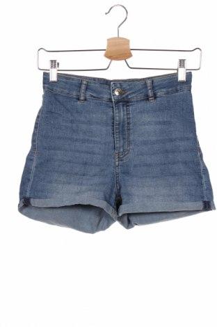 Дамски къс панталон H&M Divided, Размер M, Цвят Син, 79% памук, 19% полиестер, 2% еластан, Цена 19,50лв.