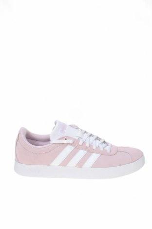 Дамски обувки Adidas, Размер 41, Цвят Розов, Естествен велур, еко кожа, Цена 125,30лв.