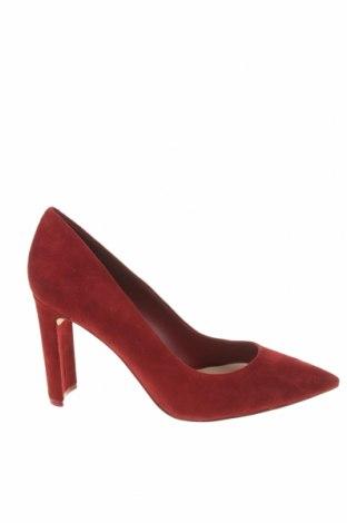 Дамски обувки Aldo, Размер 37, Цвят Червен, Естествен велур, Цена 90,35лв.
