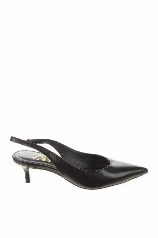Încălțăminte de damă Zara, Mărime 37, Culoare Negru, Piele naturală, Preț 70,72 Lei