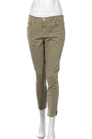 Дамски панталон Angels, Размер M, Цвят Зелен, 98% памук, 2% еластан, Цена 27,30лв.