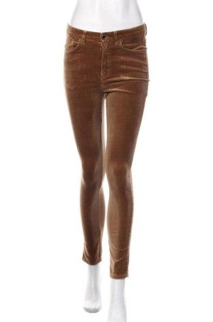 Дамски панталон Massimo Dutti, Размер S, Цвят Кафяв, 98% памук, 2% еластан, Цена 33,75лв.