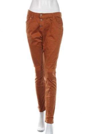 Pantaloni de femei Please, Mărime M, Culoare Portocaliu, 98% bumbac, 2% elastan, Preț 144,90 Lei