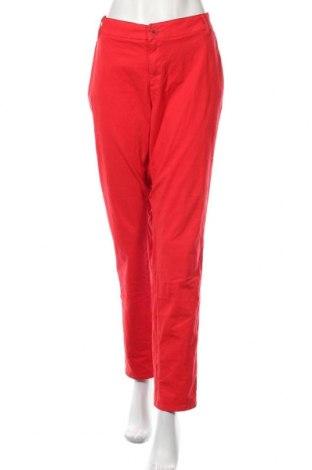 Γυναικείο παντελόνι S.Oliver, Μέγεθος XL, Χρώμα Κόκκινο, 98% βαμβάκι, 2% ελαστάνη, Τιμή 27,48€