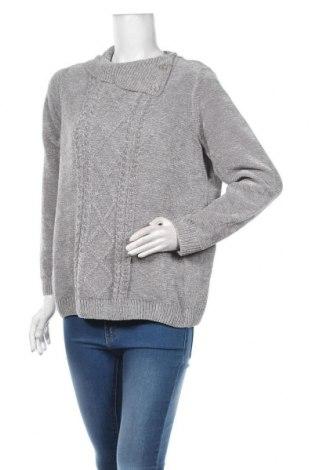 Дамски пуловер Alia, Размер M, Цвят Сив, Полиестер, Цена 19,85лв.