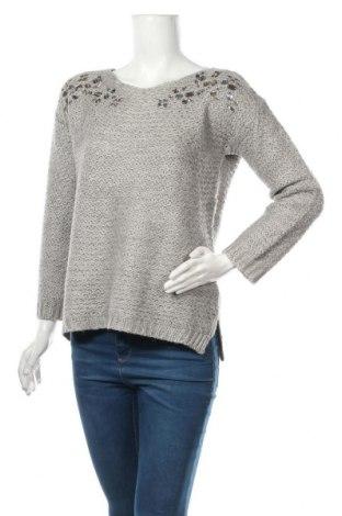 Дамски пуловер Amisu, Размер S, Цвят Сив, 87% акрил, 9% мохер, 4% метални нишки, Цена 30,45лв.