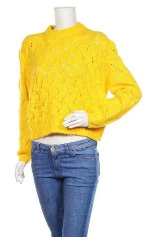 Pulover de femei Another Label, Mărime S, Culoare Galben, 54%acril, 26% poliamidă, 11% lână de alpaca, 9% lână, Preț 96,16 Lei