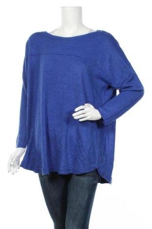 Дамски пуловер Autograph, Размер L, Цвят Син, Акрил, Цена 29,40лв.