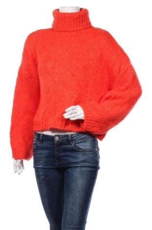 Pulover de femei Dilvin, Mărime M, Culoare Portocaliu, 56%acril, 20% poliester, 16% lână, 8% mohair, Preț 102,79 Lei
