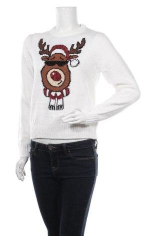 Damski sweter Fb Sister, Rozmiar S, Kolor Biały, Poliakryl, Cena 78,00zł